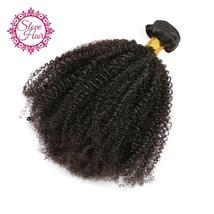 Slove Hair Peruvian Afro Kinky Curly Human Hair 1 Piece Hair Weave Bundl... - $29.00+