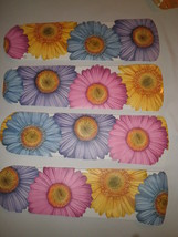 CUSTOM~ PINK BLUE YELLOW PURPLE GIANT GERBER DAISY DAISIES CEILING FAN - $89.99