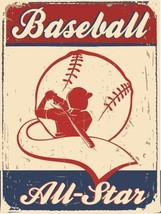 Baseball All Star Sports America Vintage Distressed Retro Metal Sign - $23.95