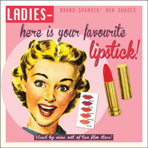 Ladies Lipstick Vintage Classic Advertidement Metal Sign - $16.95