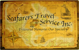 Rustic/Vintage Seafarers Travel Service Inc Treasured Memories Tin Metal... - $19.95