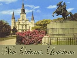 New Orleans Louisiana Jackson Statue Icon Tourist Travel USA Metal Sign - $15.95