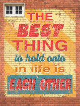 Best Thing in Life Eachother Love Couple Vintage Distressed Retro Metal ... - $23.95