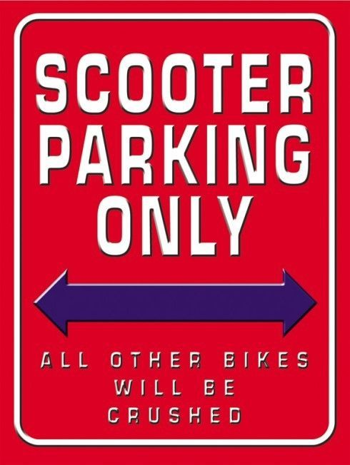 Scooter Parking Only Metal Sign