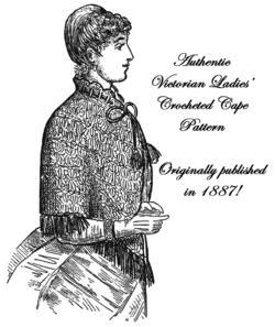 1887 Victorian Lady Cape Crochet Pattern DIY Historical Village Reenactment 9