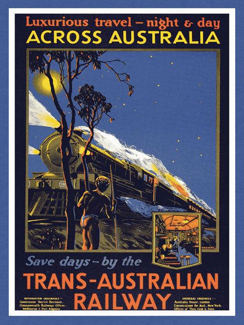 Travel Across Australia by Train Railway Metal Sign