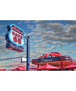 Cruiser's Cafe 66 Peter Torres Man Cave Retro Automotive Classic Metal Sign - $29.95