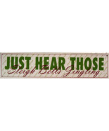 Hear Those Sleigh Bells Ringing Christmas Holiday Winter Song Music Meta... - $20.00