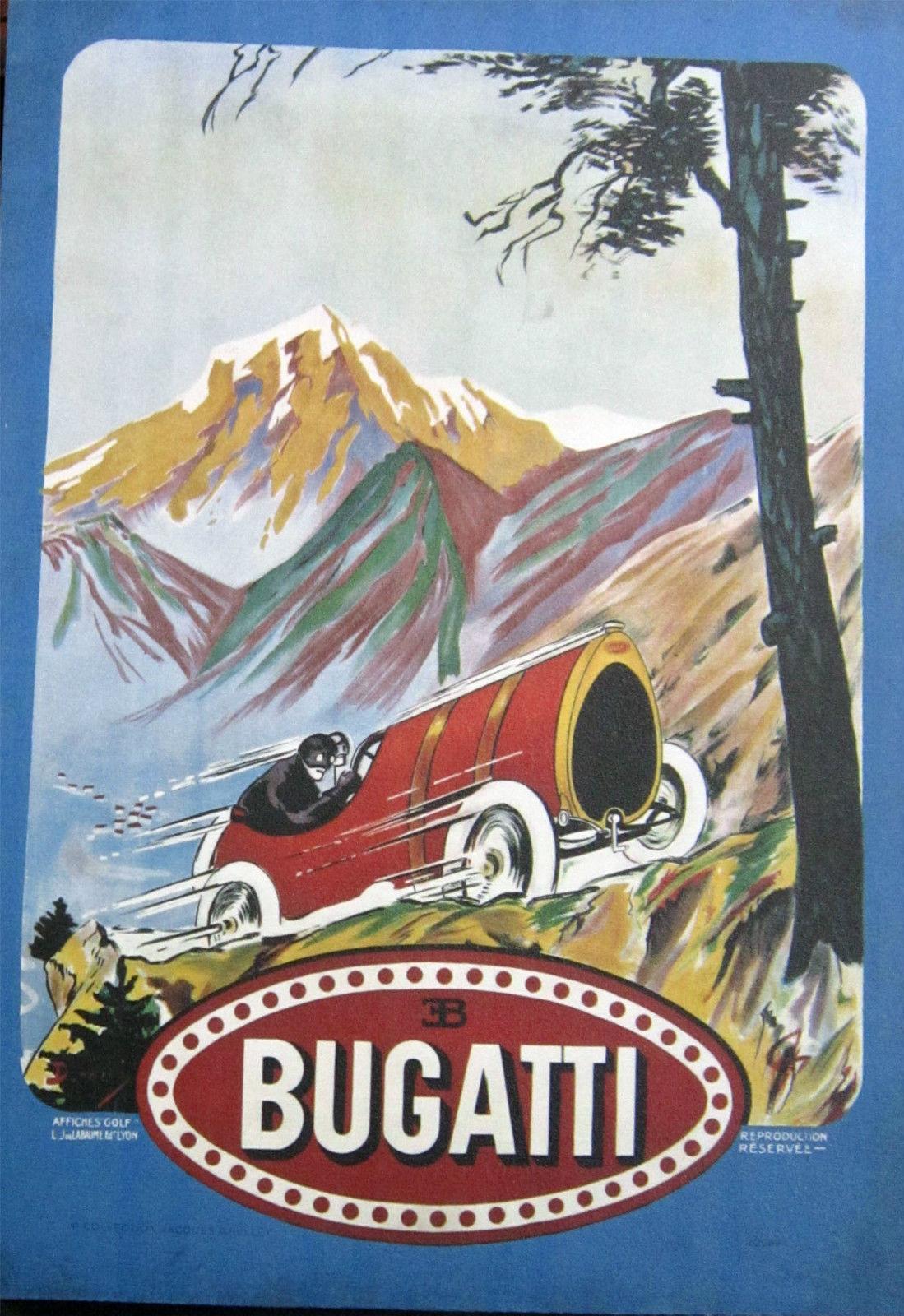 Vintage Automobilia Bugatti Racing Canvas Images (Video)