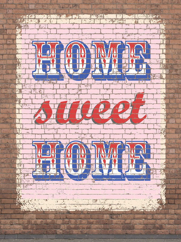 Home Sweet Home Vintage Distressed Shabby Chic Decorative Metal Sign