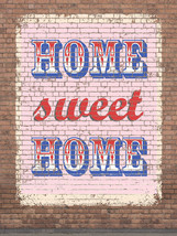 Home Sweet Home Vintage Distressed Shabby Chic Decorative Metal Sign - $23.95