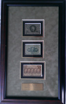 Circulated Framed Fractional Currency 5c,10c, 25c - $1,000.00