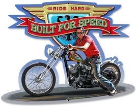 Ride Hard-Built For Speed Plasma Cut Metal Sign - $26.95