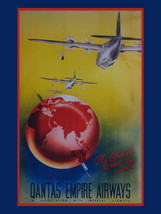 Qantas Empire Airlines Travel Flight flying Airplane Metal Sign - $15.95