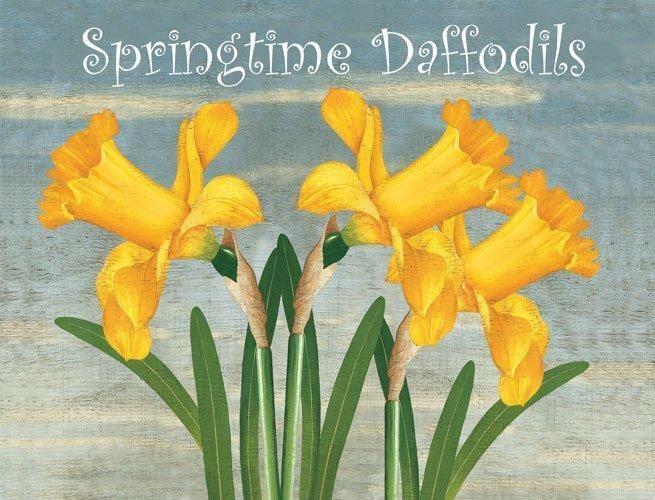 Springtime Daffodils Garden Flowers Nature Home Spring Metal Sign