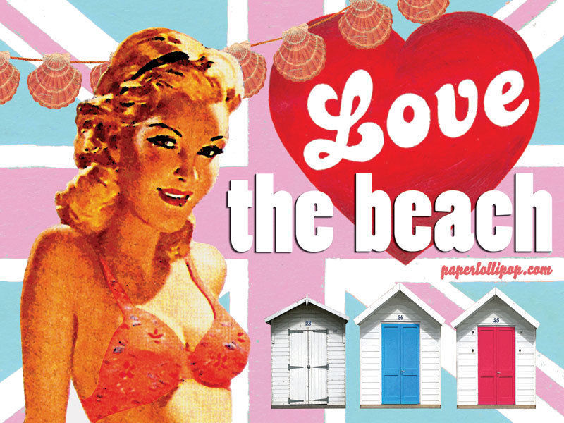 Love the Beach Shack Change Room Vintage Classic Advertidement Metal Sign