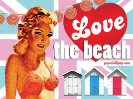 Love the Beach Shack Change Room Vintage Classic Advertidement Metal Sign - $16.95
