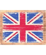 Union Jack British Flag Vintage Distressed Decorative Metal Sign - $16.95