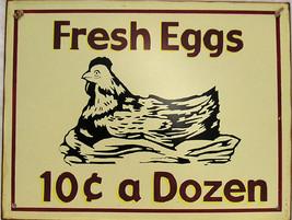 Fresh Eggs 10c a Dozen Farm Chicken Hen - $24.95