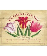 Floral Gem Tulips Garden Flowers Nature Metal Sign - $16.95