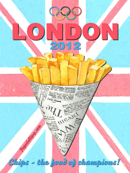 London Olympics 2012 Chips Vintage Distressed Decorative Metal Sign