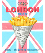London Olympics 2012 Chips Vintage Distressed Decorative Metal Sign - $16.95