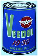 Veedol 10-30 Motor Oil Can (metal sign) - $40.00
