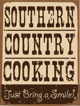 Southern Country Cooking Vintage Distressed Shabby Chic Decorative Metal... - $16.95