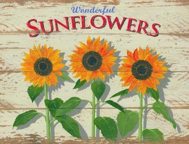 Sunflower Rustic/Primitive Metal Sign