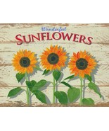 Sunflower Rustic/Primitive Metal Sign - $16.95
