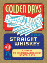 Golden Days' Straight Whiskey Metal Sign - $15.95