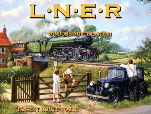 Primary image for L.N.E.R. Railways London & North Eastern Train Transportation Retro Metal Sign