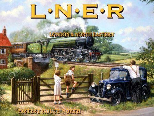 L.N.E.R. Railways London & North Eastern Train Transportation Retro Metal Sign