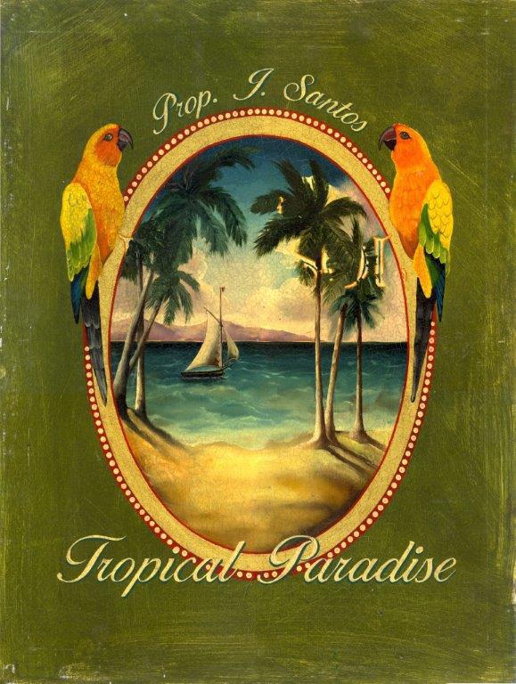 Tropical Paradise Birds Island Beach Metal Sign
