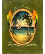 Tropical Paradise Birds Island Beach Metal Sign - $16.95