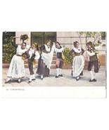 Tarantella Italian Folk Dance Traditional Dress Costume Vintage Postcard - $4.99
