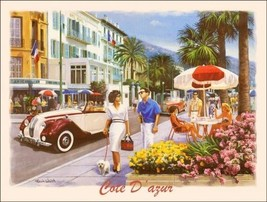 Cote D'Azur Vacation City Metal Sign - $16.95
