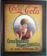 """Coca-Cola Advertisement """"Cures Headache-Relieves Exhaustion"""" - $1,995.00"""