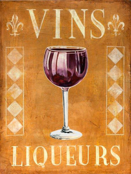 Vins Liqueur Wine Vino Wino Alcohol Metal Sign