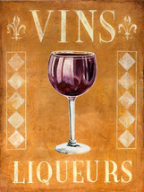 Vins Liqueur Wine Vino Wino Alcohol Metal Sign - $23.95