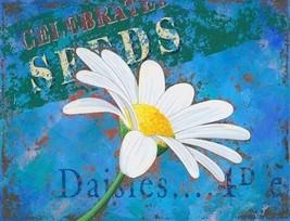 Springtime Daises Daisy Garden Flowers Nature Home Spring Metal Sign - $16.95