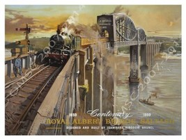 Royal Albert Bridge Saltash Transportation Retro Metal Sign - $15.95