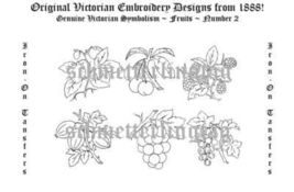 1888 Victorian Embroidery Transfer Patterns Fruit Fruits DIY EmbroideringDesigns - $6.65
