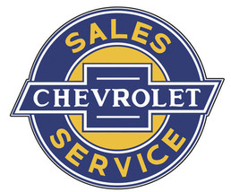 "Chevrolet  Sales-Service 23"" Metal Sign - $80.00"