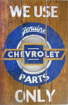Chevrolet-Genuine Parts ( Wood Plaque ) - $19.95