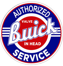 """Buick Authorized Service 22"""" Round Metal Sign ( Red/Blue) - $80.00"""