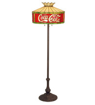Coca Cola Coke Stain Glass Floor lamp Light  74068 - $750.00