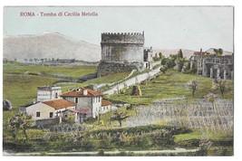 Rome Italy Tomba Cecilia Metella Appian Way Tomb Mausoleum Vintage Postcard - $7.99