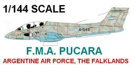 1/144 scale Resin Kit  FMA Pucara Argentine Air Force - $16.00