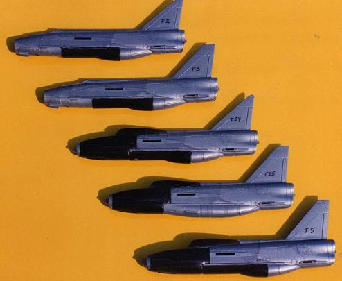 1/144 scale English Electric Lightning T.5 XS420 Converts Revell F.6 Camo